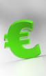 Big Euro Symbol - Grün Glas