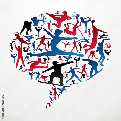 Social media Sports silhouettes