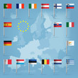 17 european union countries over european map