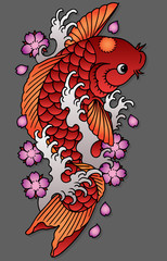 carpa koi color