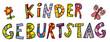 Schrift Kindergeburtstag Kinder Zeichnung