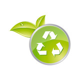 Recycling glossy icon