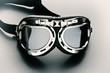 Vintage retro bike aviation goggles