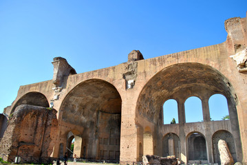 Basilica of Maxentius in the Roman forum