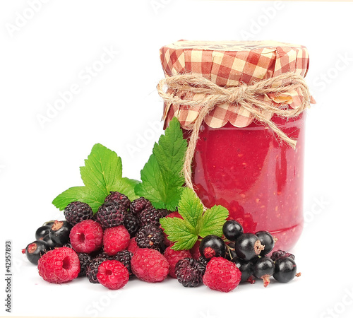 jam and wild berries