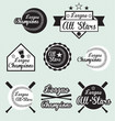 Vector Set: Baseball and Softball All Star & Champions Labels
