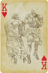 Kings of box. Hand drawing.