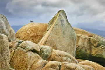 Caos granítico en la Illa de Arousa