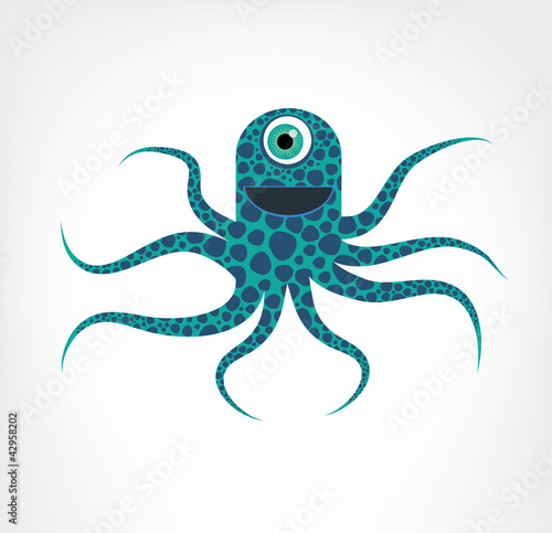 Blue and Green Octopus