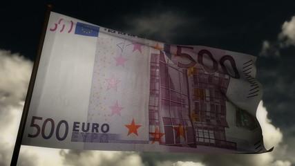 500 Euros bill flag 02