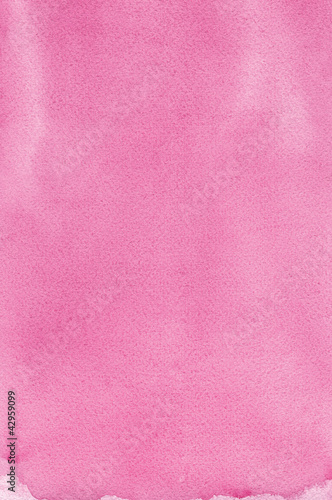 Pink natural handmade watercolor aquarelle painting texture