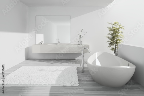 Exclusive luxury white Bathroom interior