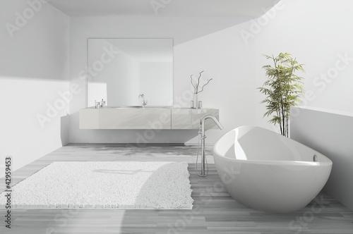 Exclusive luxury white Bathroom interior
