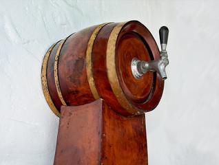 The Old wooden barrel beer
