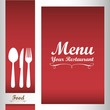 Elegant card for restaurant menu