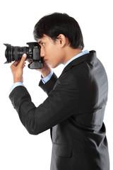 photographer using dslr camera