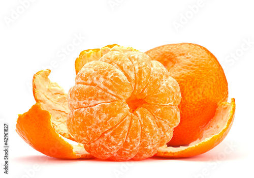 Open tangerine fruit