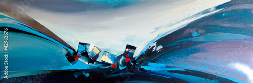 Abstract oil painting 01