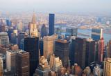 Fotoroleta New York City Manhattan skyline aerial view