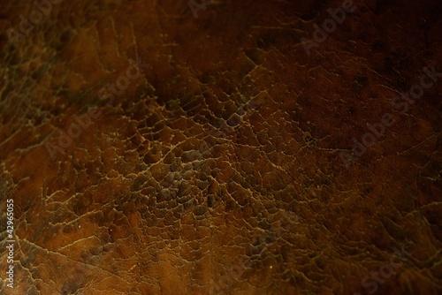 Staande foto Leder Cracked leather texture