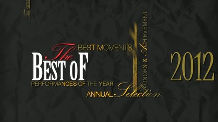The Best of 2012 show video word tag cloud template