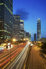 Sunset at Hong Kong city