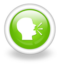 "Light Green Icon ""Talking Head / Forum / Discussion"""