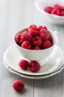 Cup of fresh raspberries