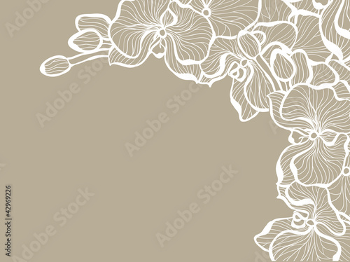 Floral romantic design template