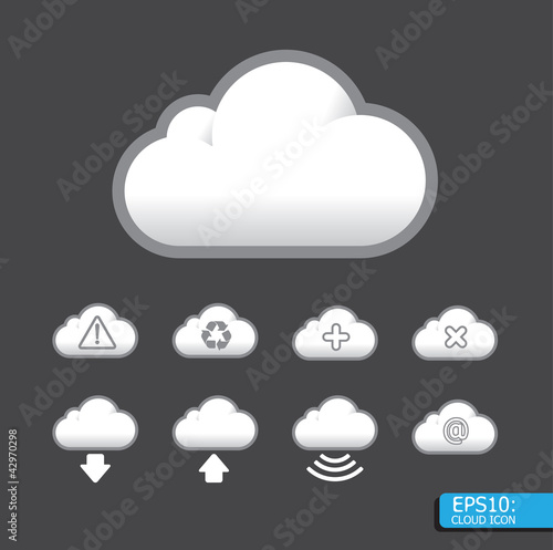 Vector cloud icon