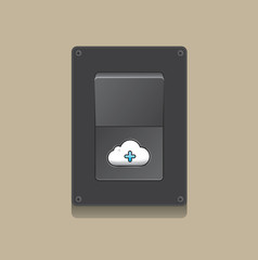 switch open cloud icon concept