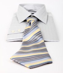 Men's shirt and tie,  the focus on the front