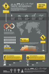 infographic vector traffic set