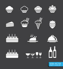 party icon set vector
