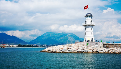 Lighthouse in Alanya, Turkey