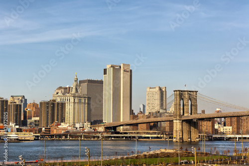 New York - Manhattan - Panorama con Ponte di Brooklyn
