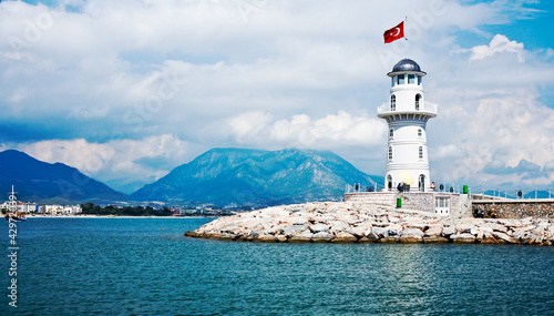 Lighthouse in Alanya, Turkey - 42972039
