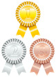 3 Award Badges 1-Gold/2-Silver/3-Bronze