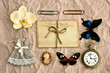 vintage things. nostalgic scrapbooking background