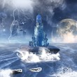 fantasy seascape with blue tower