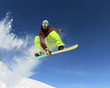 canvas print picture - Snowboarder in the sky