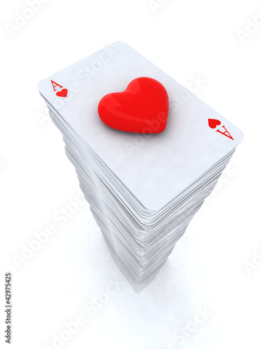 stack of playing cards