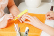 manicure process on female hands