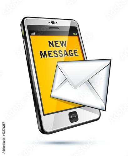 téléphone portable message