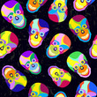 abstract colorful skull