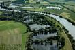 la Moselle vue du ciel de Cattenom (57)