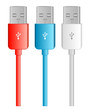 three color usb bus, red, blue white