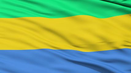 Waving national flag of Gabon