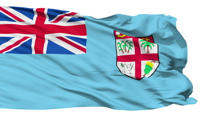 Waving national flag of Fiji