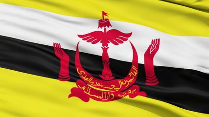 Waving national flag of Brunei
